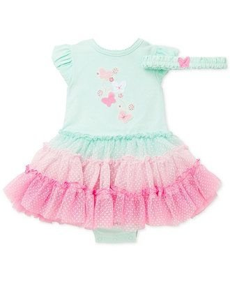 Body Vestido Tutu | Little Me Baby - Butterfly com Faixinha