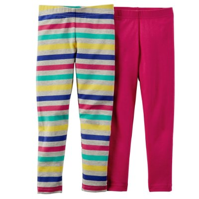 Pack 2 leggings: Rosa e listrada - Carter´s