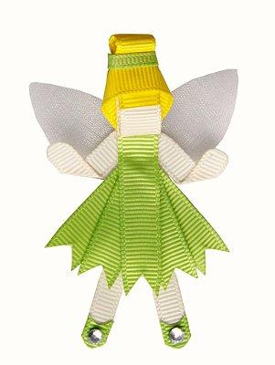 Lacinho em gorgurão com bico de pato Tinker Bell (Sininho)