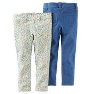 Pack 2 Legging: Floral e Jeans - Carter´s
