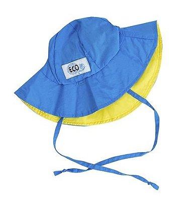 Chapéu Dupla Face com FPU50+ | Ecotrends - Azul e Amarelo
