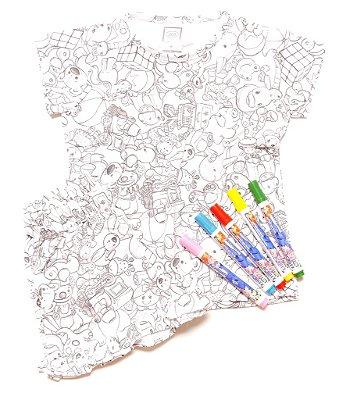 Pijaminha de colorir