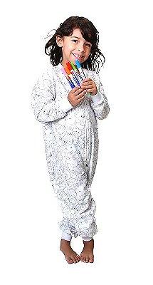 Pijama | Macacão de colorir