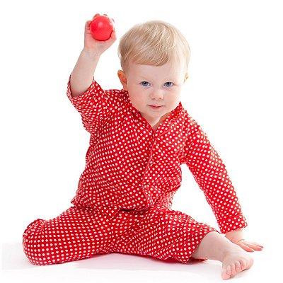 Pijama infantil 2-3 anos Vermlho