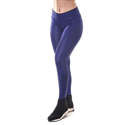 Calça Legging Cirrê  Azul Poliéster