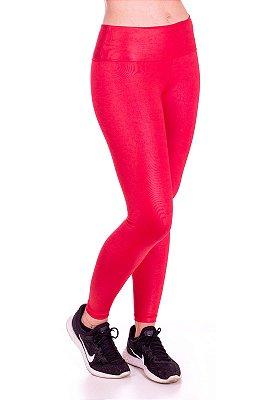 Calça Legging Básica Cirrê Vermelho Poliéster