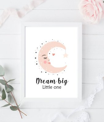 Quadro Infantil Dream Big Little One