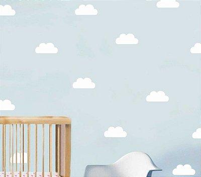 Adesivo Parede Infantil Nuvem Branca