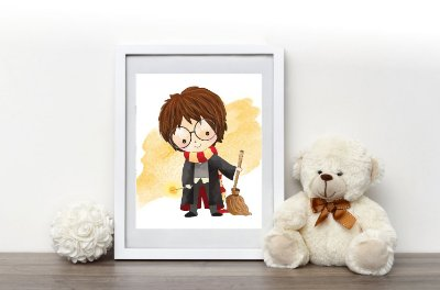 Quadro Infantil Harry Potter