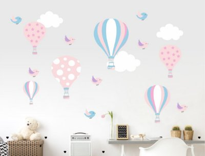 Adesivo de Parede Balões e Passarinhos