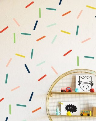 Adesivo de Parede Confeitos Coloridos Tons Pasteis (120 Confeitos)
