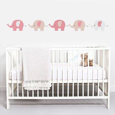 Adesivo de Parede Infantil Elefantes Grandes