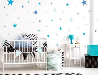 Adesivo Parede Infantil Estrela Azul
