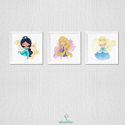 Quadro Infantil Princesas da Disney