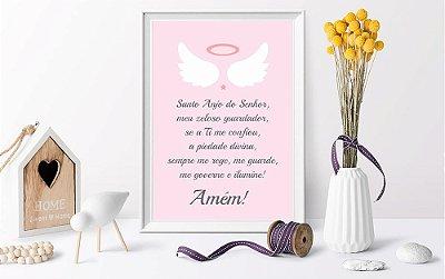 Quadro Infantil Oração Santo Anjo