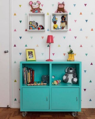 Adesivo Infantil Triangulo coloridos