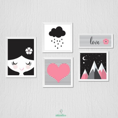 Decoração Quarto de Menina, chuva de amor, love