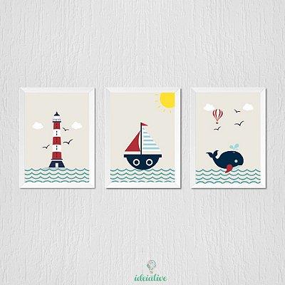 Quadro para quarto de menino tema marinheiro