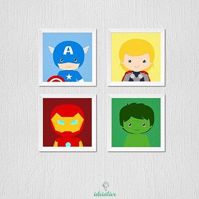 Quadro Super Heróis Vingadores