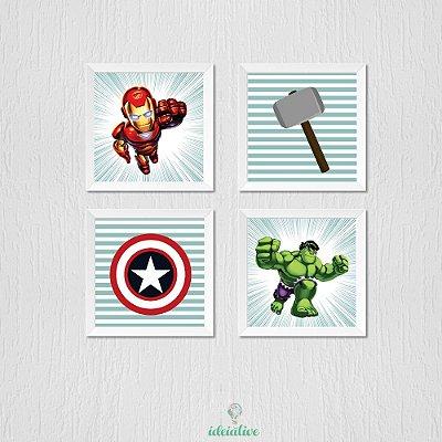 Quadro Infantil Heróis Vingadores
