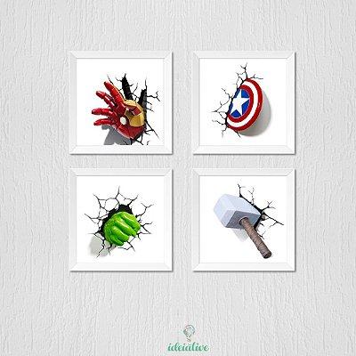 Quadro Infantil Heróis Vingadores 3d
