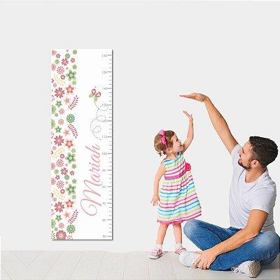 Régua de Crescimento Borboleta e Flor