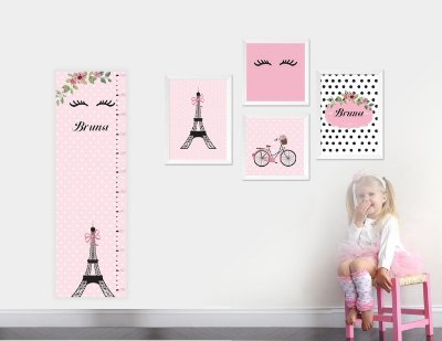 Régua de Crescimento Menina Paris