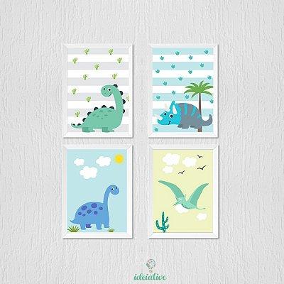 Quadro Quarto de Criança Dinossauro