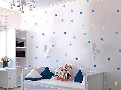 Adesivo bolinhas azuis para quarto de menino