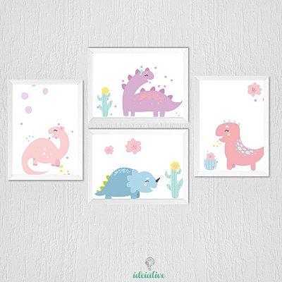 Quadro Infantil Dinossauro Meninas