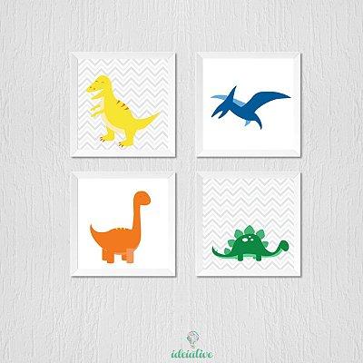 Quadrinho Infantil Dinossauros Coloridos
