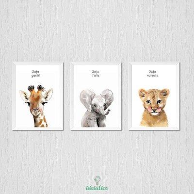 Quadros Infantil Animais Safari