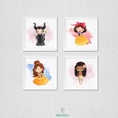 Quadro Infantil Princesas Disney