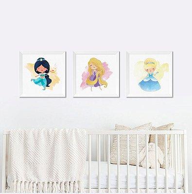Quadro Infantil Princesa Disney