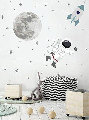 Adesivo Astronauta na Lua