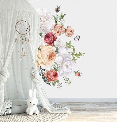 Adesivo de Parede Flores - rosas