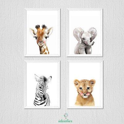 Quadro Decoração Infantil Safari