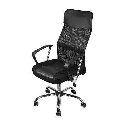 Cadeira Chicago Corino Tela Preta
