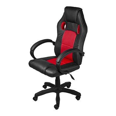 Cadeira Raptor Gamer Preta e Vermelha