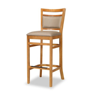 Banqueta Montreal com assento e encosto estofado Fendi cod. 4.2.211