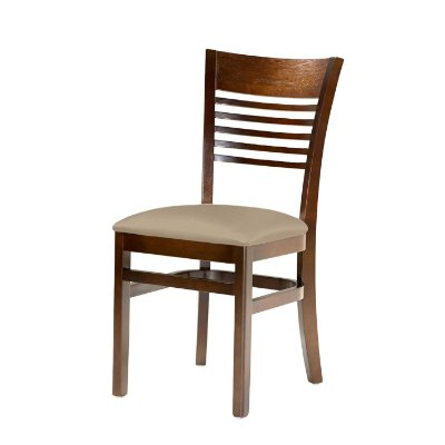 Cadeira Santiago Assento Estofado Bege 4.2.923