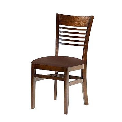 Cadeira Santiago Assento Estofado Marrom 4.2.925