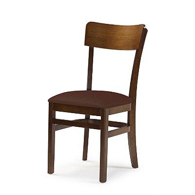 Cadeira Portugal Assento Estofado Marrom 4.2.925