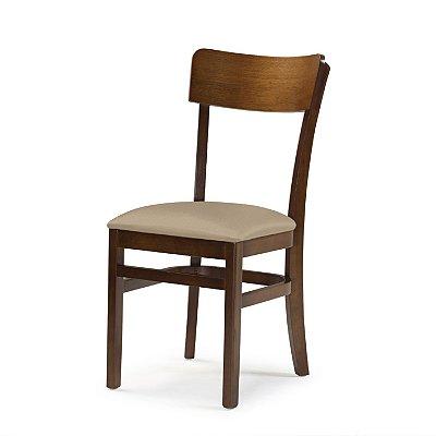 Cadeira Portugal Assento Estofado Bege 4.2.923