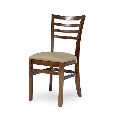 Cadeira Luanda Assento Estofado Bege 4.2.923
