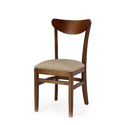 Cadeira Lisboa Assento Estofado Bege 4.2.923