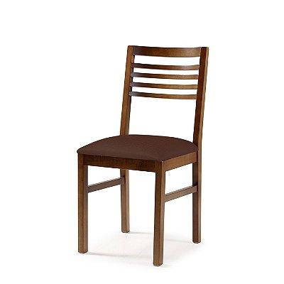 Cadeira Buenos Aires Assento Estofado Marrom 4.2.925