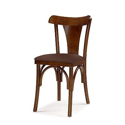 Cadeira Nice Assento Estofado Marrom 4.2.925