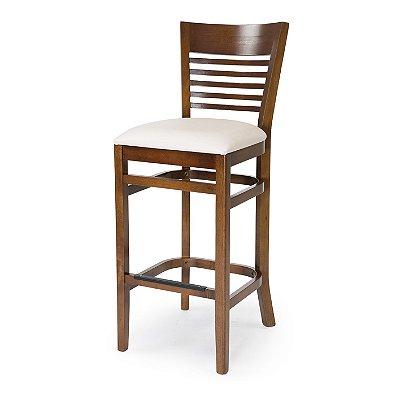 Banqueta Santiago assento Estofado Branco COD. 4.2.154