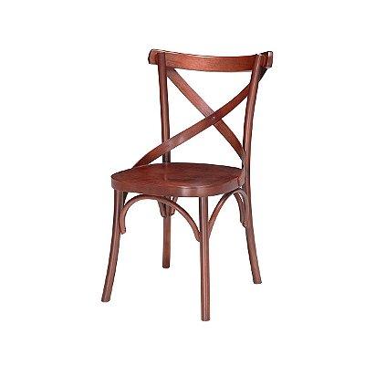 Cadeira Roterdã Assento Madeira cor Mogno